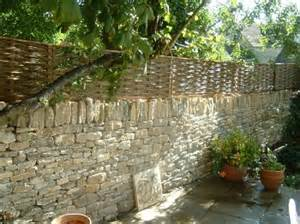 Iron Wall Trellis Traditional Woven Willow Fencing Panels By Winterbourne