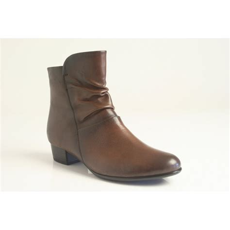 gabor gabor style quot quot coffee brown leather ankle boot
