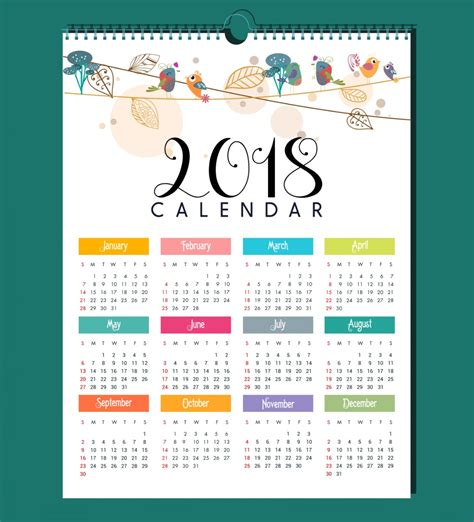 printable calendar 2018 with designs elegant calendar 2018 design calendar 2018