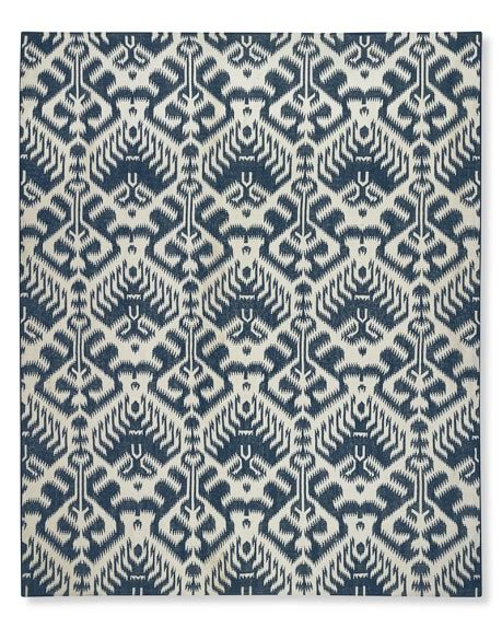 Medallion Outdoor Rug Ikat Medallion Indoor Outdoor Rug Dress Blue Williams Sonoma