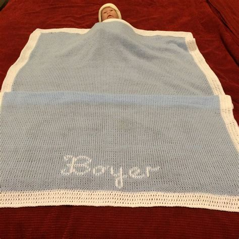 Baby Crib Blanket Size Crib Size Personalized Knitted Baby Blanket Color Options