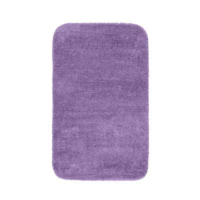 Purple Bathroom Rugs Garland Rug Traditional Purple 30 In X 50 In Washable Bathroom Accent Rug Dec 3050 09 The