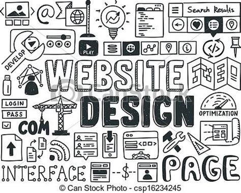 doodle 4 official website eps vector of website design doodle elements