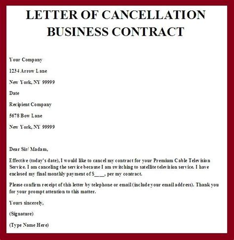 Cancellation Of Contract Letter Sle Printable Sle Contract Termination Letter Form Real Estate Forms Real Estate