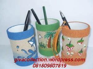 Asbak Paralon Unik souvenir daur ulang serbuk gergaji dan pasir giva craft