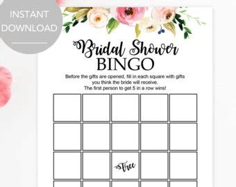 Blank Bingo Card Template For Bridal Shower by Bridal Bingo Template Madinbelgrade