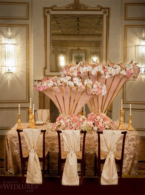 pictures of rose gold, pink, gold, bronze tablescapes