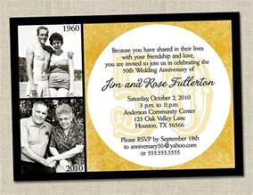 50th wedding anniversary templates 50th anniversary invitation golden gold anniversary