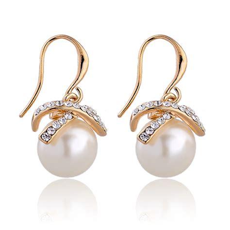 2015 earings fashion pearl jewelry drop earrings
