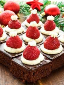 santa hat mini brownies healthy christmas party dinner