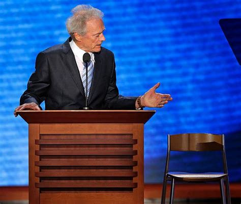 Clint Eastwood Talking To Chair by Clint Eastwood Talks To A Chair And Names In The