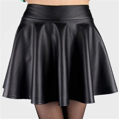 M10124 Bandage Legging Fit To Size 29 Kode Qe10124 stylish elastic waist solid color faux leather skirt for