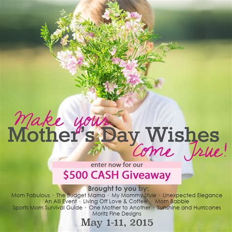 Mother S Day Giveaway - 500 cash giveaway make your mother s day wishes come true mom babble