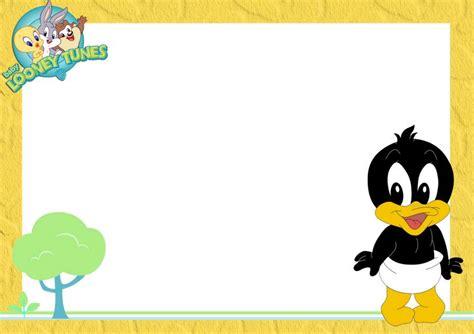Baby Shower Template Gifs Y Fondos Pazenlatormenta Marcos Para Fotos Infantiles Malcolm Looney Tunes Invitations Templates