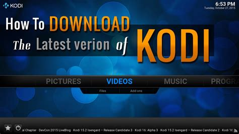 The Version by Kodi How To The Version Of Kodi 16 0