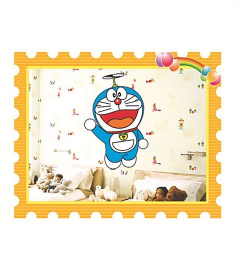 Wallsticker Doraemon 2 pindia white blue 3d doraemon wall sticker buy pindia white blue 3d doraemon