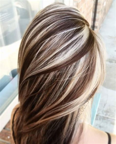 drastic highlighted hair styles coffee and cream lowlights and highlights using
