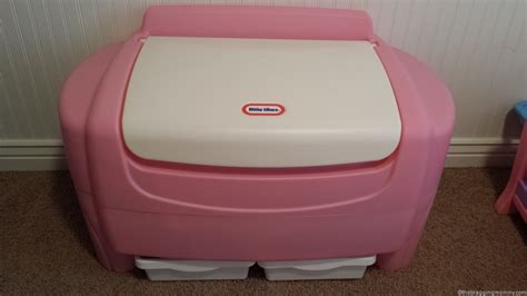 little tikes pink toy box together with little tikes pirate ship bed getting my princesses room organized little tikes pink