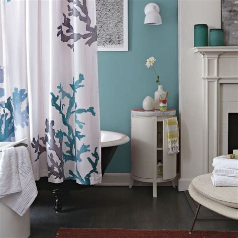 bathroom west coral reef shower curtain west elm bathroom pinterest