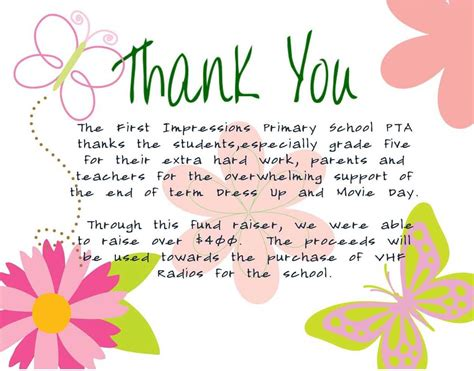 thank you letter to parents from pta 28 thank you letter to parents from pta thank you