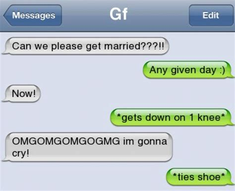 Meme For Text Messages - funny text can we get married jokes memes pictures