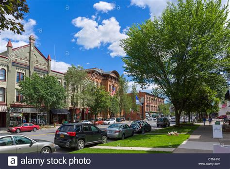 historic buildings on broadway in downtown saratoga