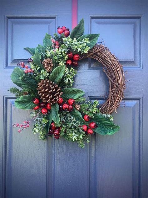 easy diy outdoor winter wreath   door christmas