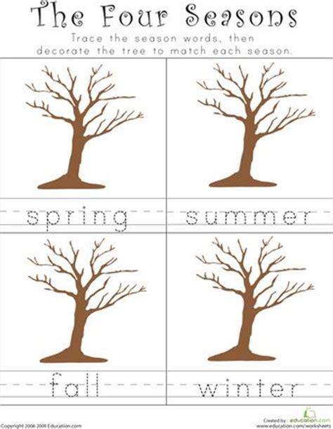 Essay 4 Seasons by Writing The Four Seasons Knowledge Science Worksheets And Collage