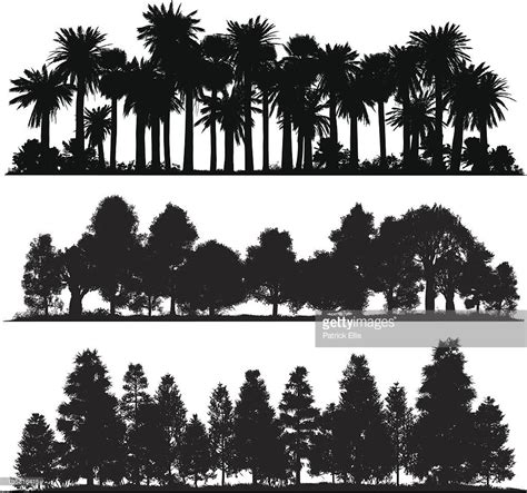 forest silhouette tattoo vector forest silhouettes drawings
