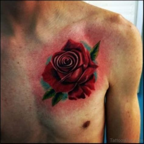 rose tattoo on chest tattoo collections