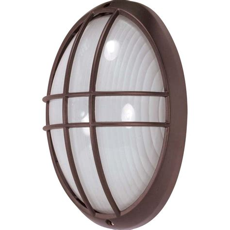 glomar 1 light outdoor architectural bronze large oval