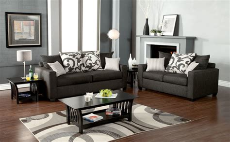 technique charcoal sofa and loveseat fabric living room modern charcoal fabric sofa loveseat pillows comfort