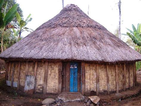 gambar desain rumah adat papua timur  barat