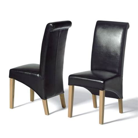 Leather Dining Chairs Alfie Black Leather Dining Chairs X2 Buy Leather Dining Chairs