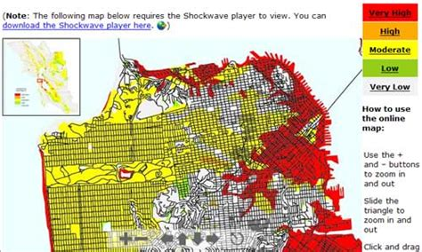 san francisco landfill map san francisco neighborhoods prone to liquefaction and