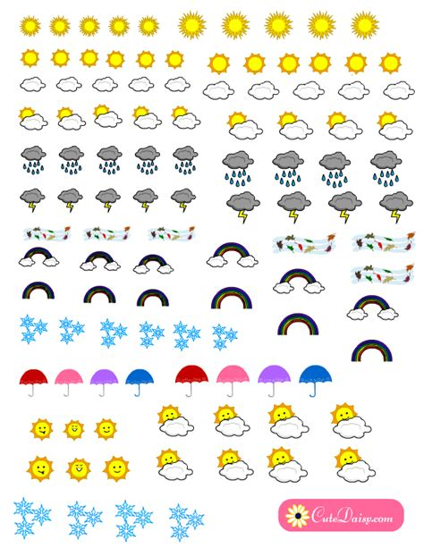 weather planner stickers printable weather stickers for planner free printable