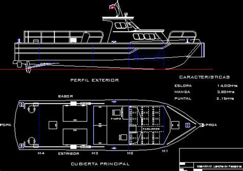 passenger boat dwg block  autocad designs cad
