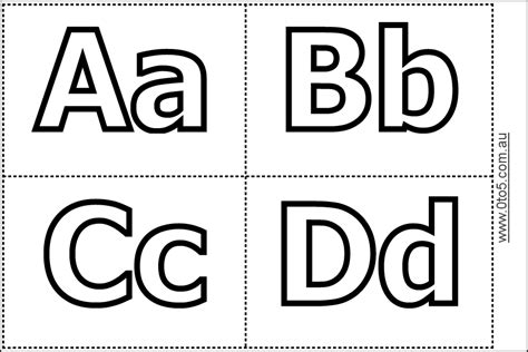 abc template abc cards1 preschool printables alphabet