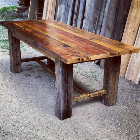 Rustic Trestle Dining Room Tables A Rustic Yet Classic Design Trestle Dining Table This Table Is Made Entirely Of Authentic