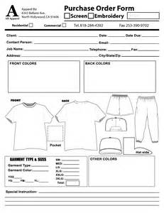 embroidery order form template free pin embroidery order form on