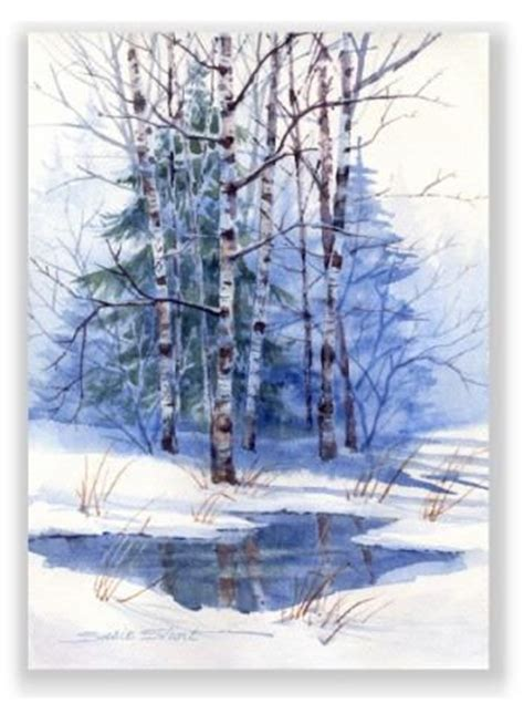 watercolor tutorial winter watercolor greeting cards prints gifts susie short s gift