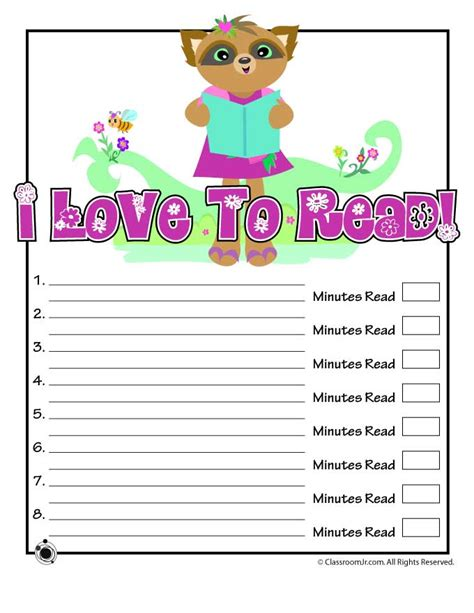 printable reading log for kindergarten cute printable reading log woo jr kids activities