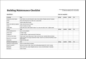 preventive maintenance form template building maintenance checklist template excel templates