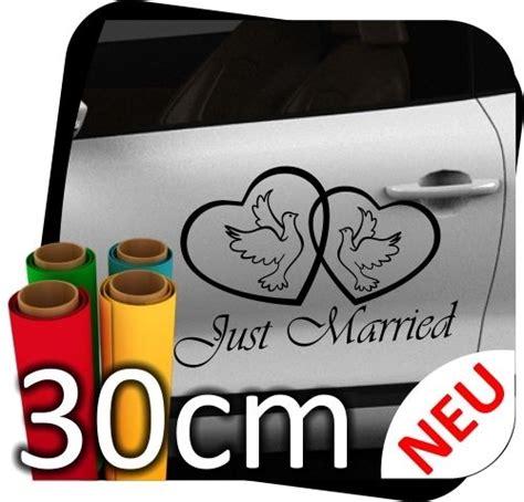 Aufkleber Hochzeit 3 Cm by 30cm Just Married Hochzeit Heiraten Herz Autoaufkleber