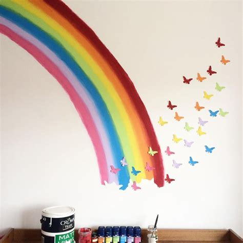 rainbow wall mural 1000 ideas about playroom mural on playrooms