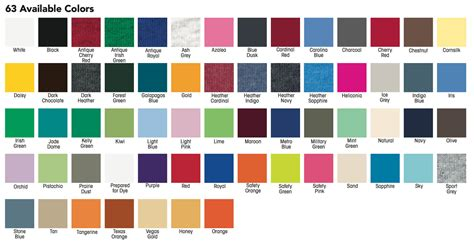 gildan t shirt color chart gildan shirt colors t shirts design concept