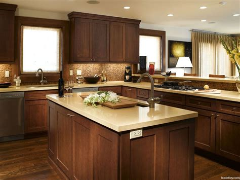 wood for kitchen cabinets elegant white shaker kitchen cabinets with dark wood