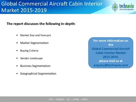 Aircraft Cabin Interior Market by Global Commercial Aircraft Cabin Interior Market 2015 2019