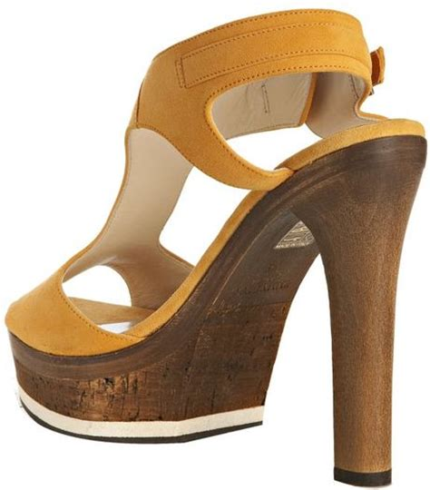yellow platform sandals jimmy choo yellow suede nixon platform sandals in yellow