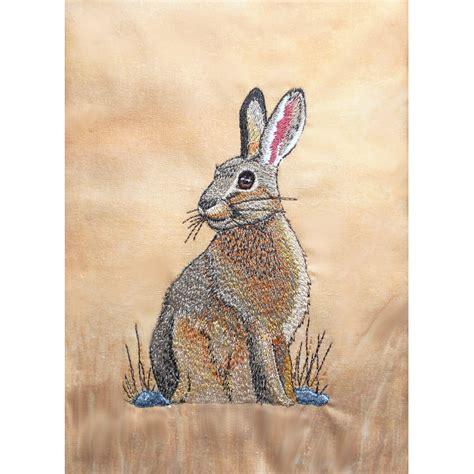embroidery design rabbit wildlife015 jack rabbit machine embroidery design 3